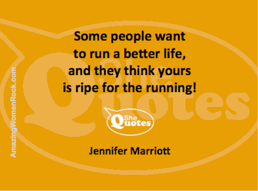 Jennifer Marriott run your life