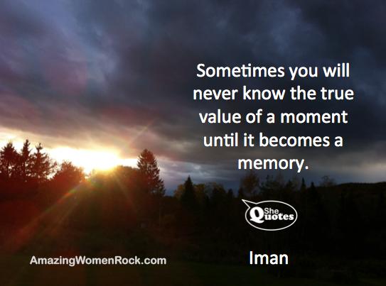 Iman remember each moment